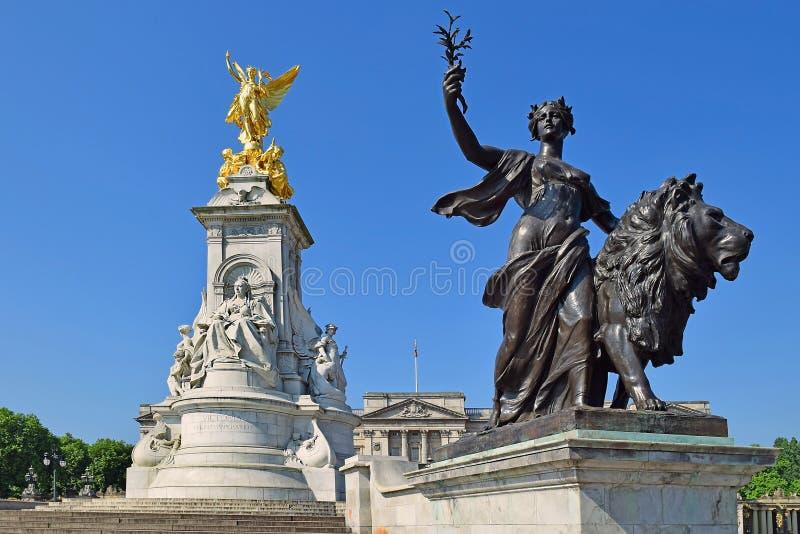 мемориал victoria london стоковое изображение rf