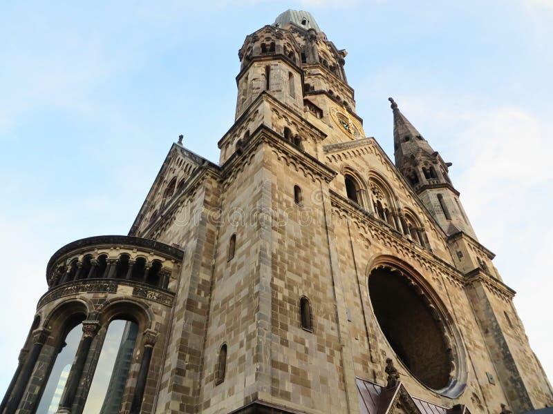 мемориал wilhelm kaiser церков berlin стоковые фото