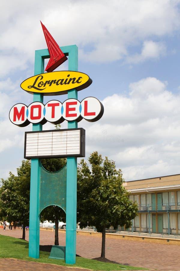 Знак мотеля Лорена стоковое изображение rf