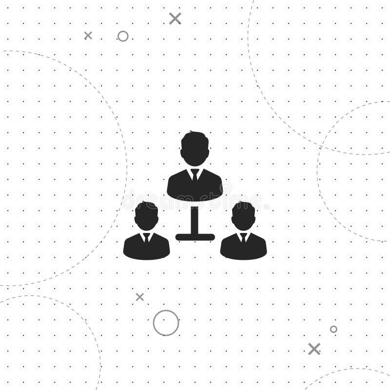 Менеджеры команды, значок вектора самый лучший плоский иллюстрация штока