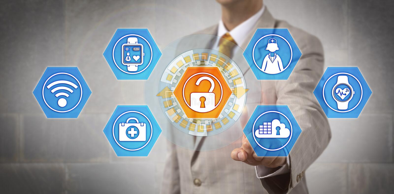 Менеджер начиная доступ к здравоохранению стоковое изображение