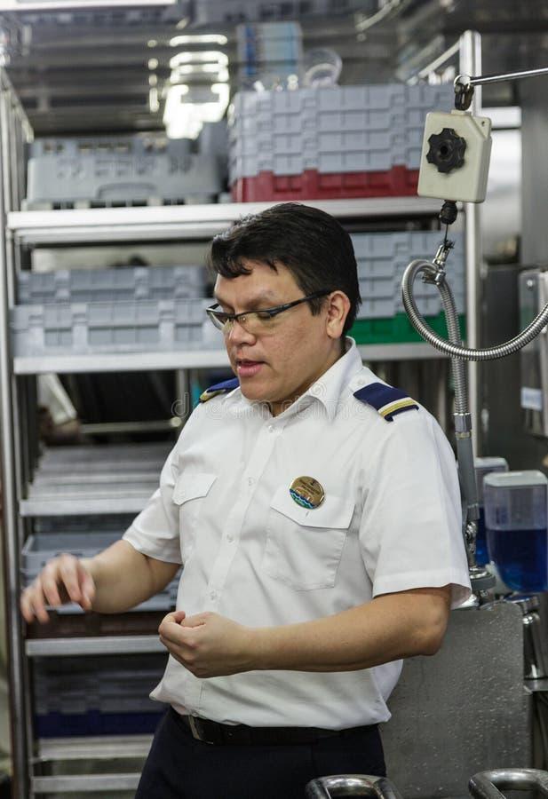 Менеджер Dishwashing стоковое изображение