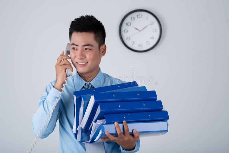 Менеджер на работе стоковое фото rf