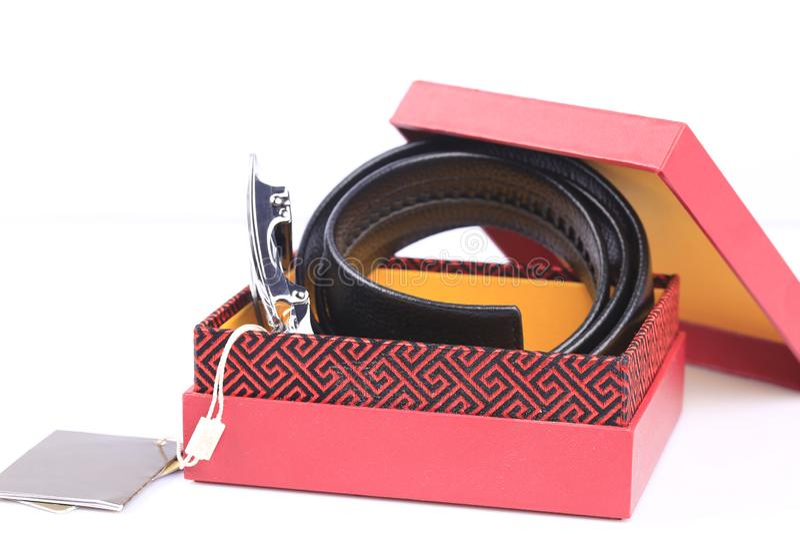 Менс-кожаный ремень стоковая фотография