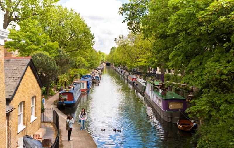 Меньшая Венеция, канал RegentÂ, Лондон - Великобритания стоковая фотография