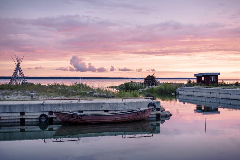 Меньшая гавань на Эстонии стоковые изображения rf
