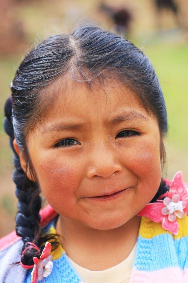 Меньшая девушка aymara стоковая фотография rf