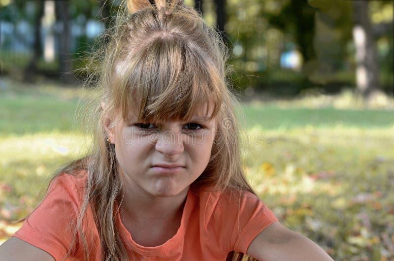 Меньшая злая девушка стоковая фотография rf