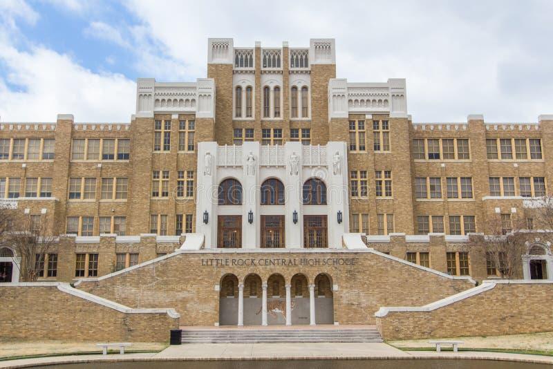 Меньшая средняя школа централи утеса стоковое фото rf