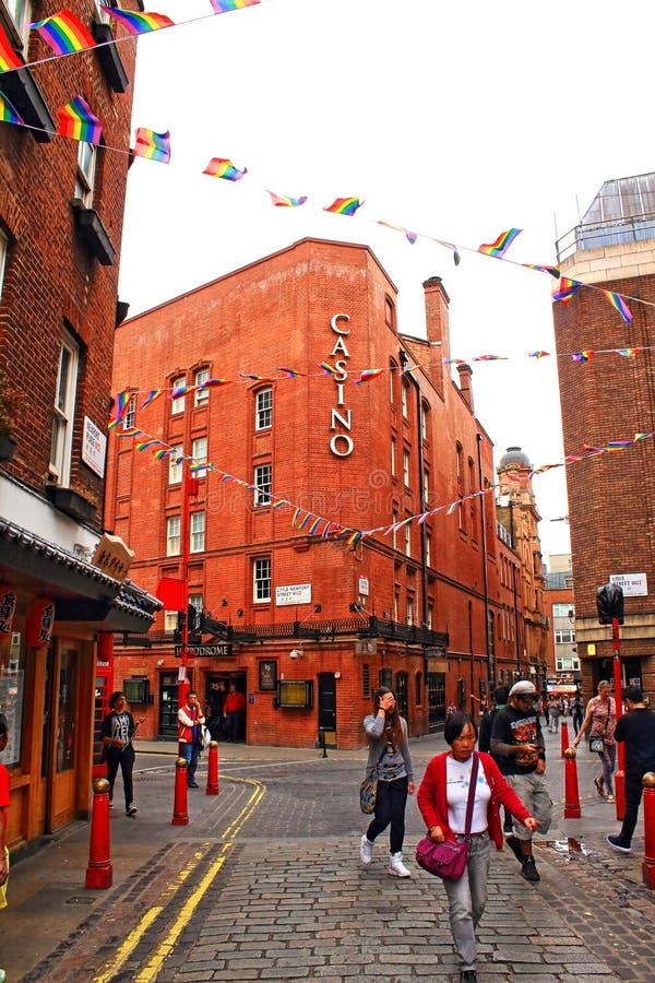 Меньшая улица Чайна-таун Лондон Великобритания Ньюпорта стоковое изображение