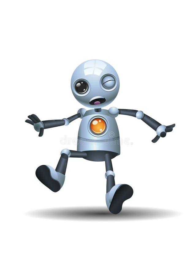 Меньшая эмоция робота внутри сокрушает сторону иллюстрация вектора