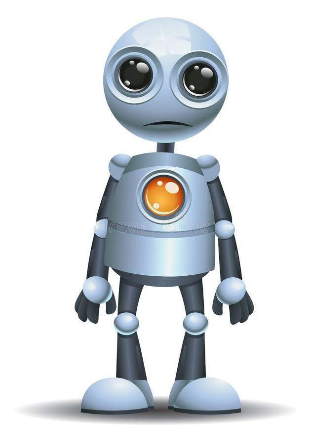 Меньшая эмоция робота в ударе иллюстрация вектора