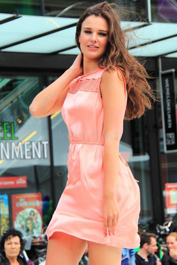 Меньшее розовое платье лета стоковое изображение