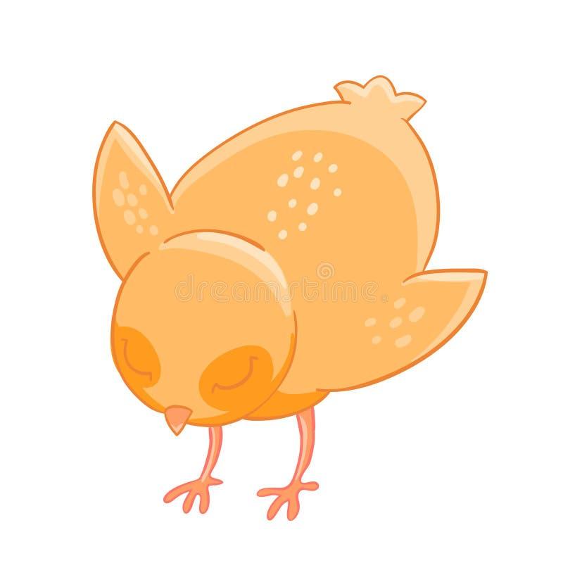 Меньшие клевки цыпленка шаржа зерна бесплатная иллюстрация