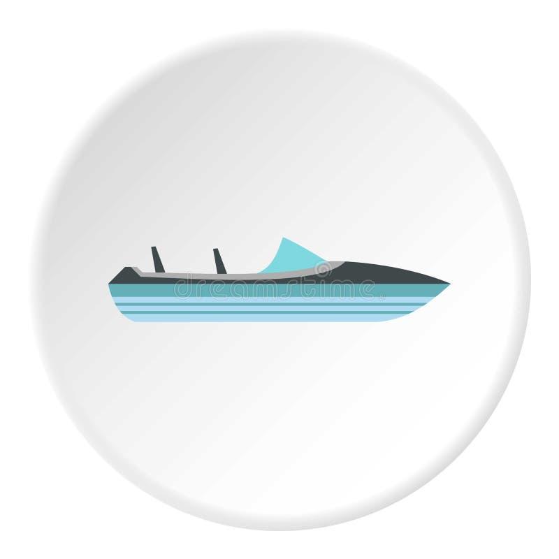 Меньший значок powerboat, плоский стиль бесплатная иллюстрация