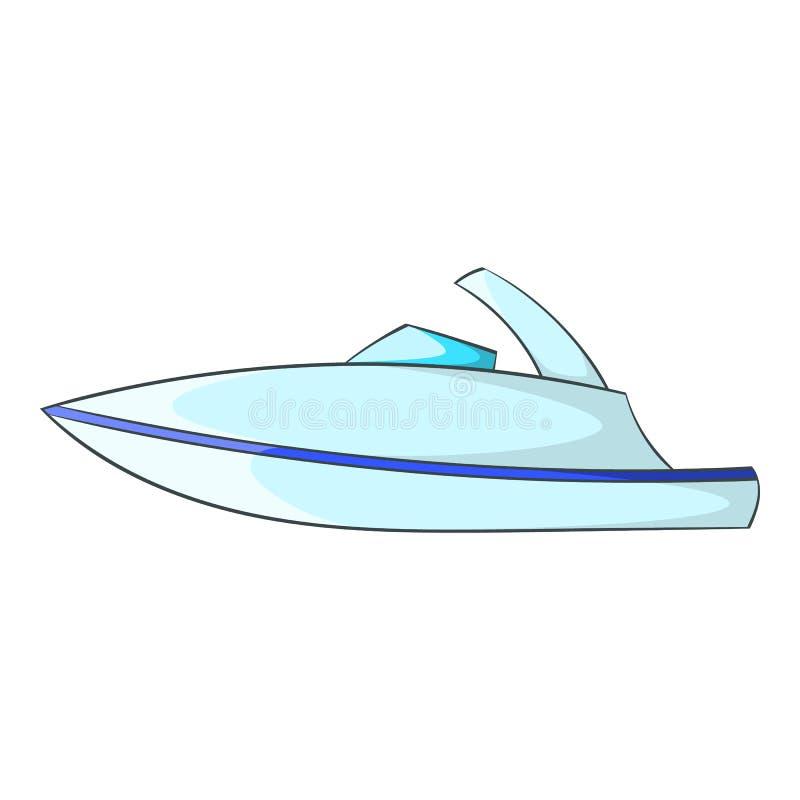 Меньший значок powerboat, стиль шаржа иллюстрация вектора