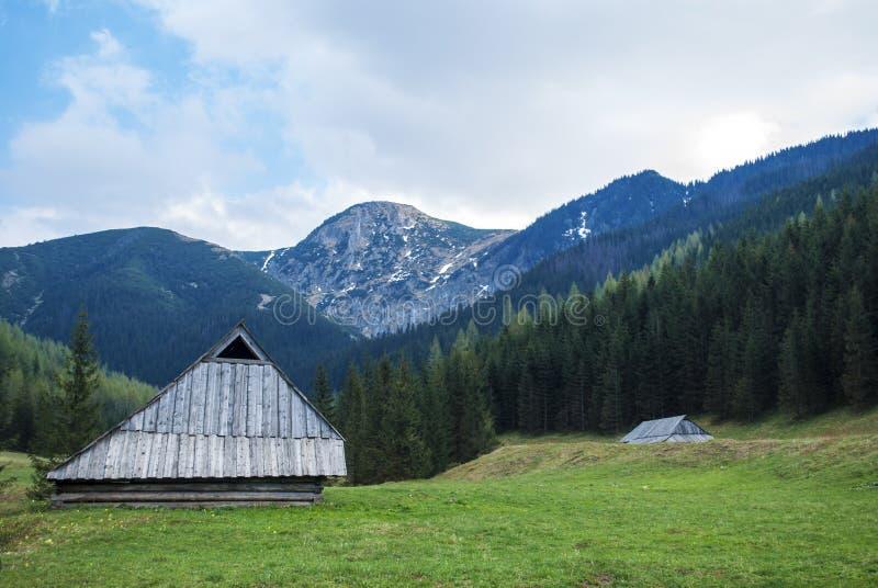 Меньший коттедж в горах стоковое изображение