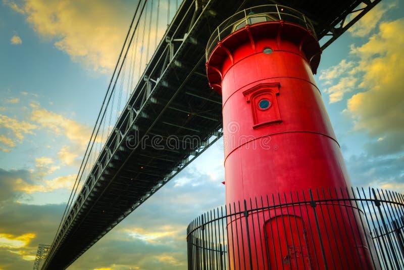 Меньший красный маяк стоковая фотография rf
