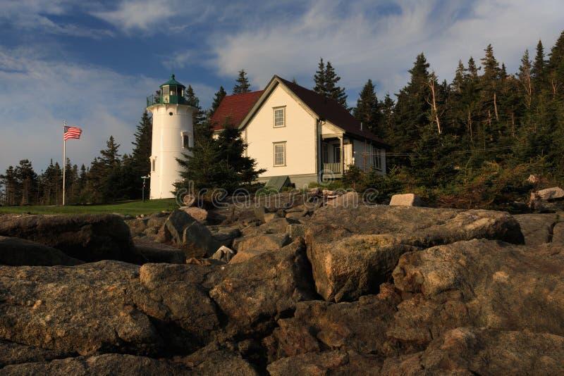 Меньший маяк реки в свете раннего утра стоковые изображения