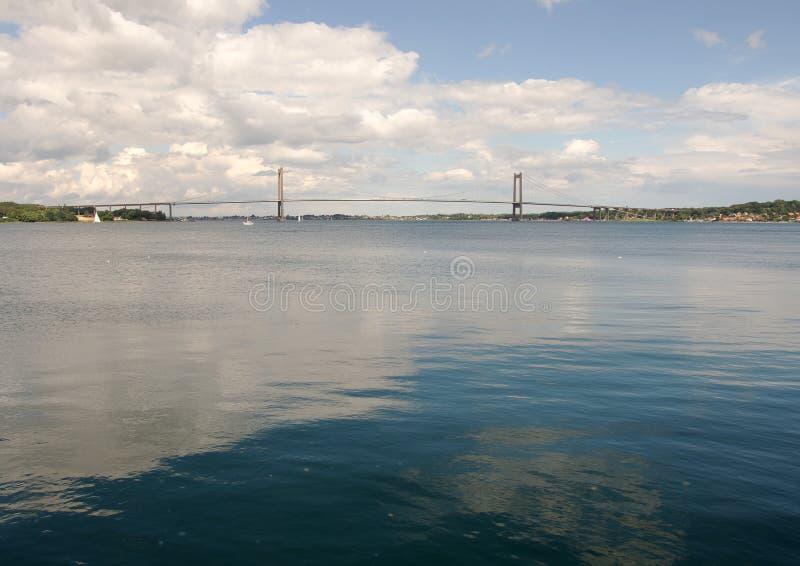 Меньший мост пояса в Middelfart, Дании стоковое фото rf