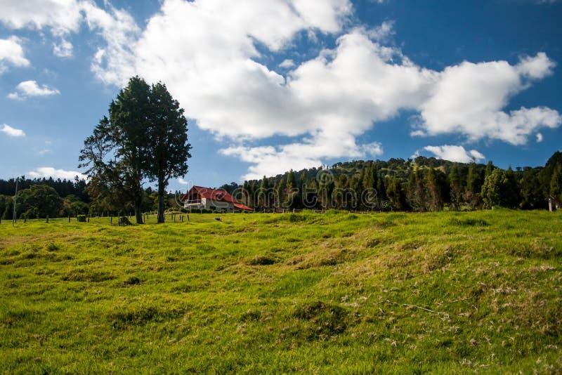 Меньший дом на холме стоковое изображение rf
