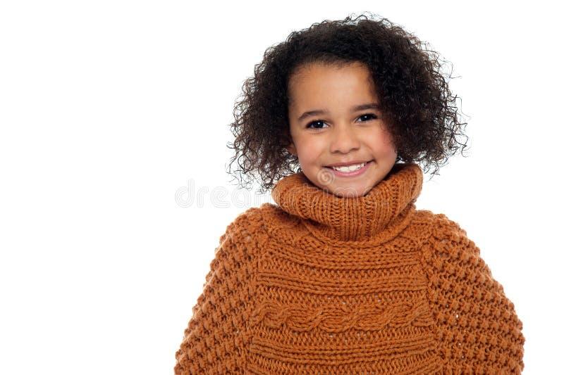 Меньший портрет девушки способа стоковые фотографии rf