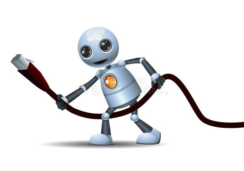 Меньший провод эпицентра деятельности владением робота иллюстрация штока