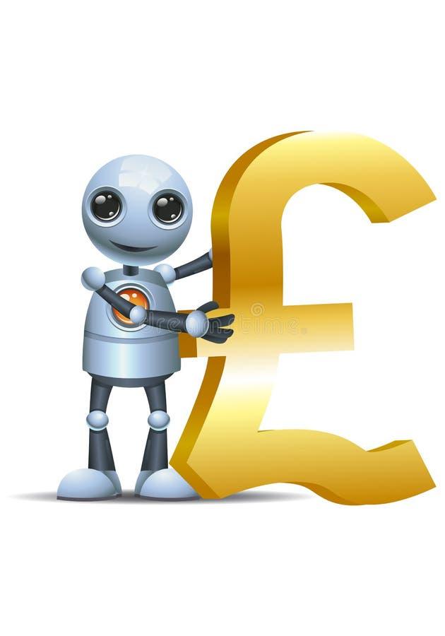 Меньший символ фунта владением робота бесплатная иллюстрация