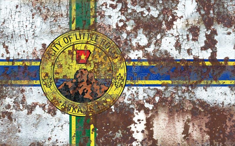 Меньший флаг задымления городов утеса, положение Арканзаса, Соединенные Штаты Am стоковые фотографии rf
