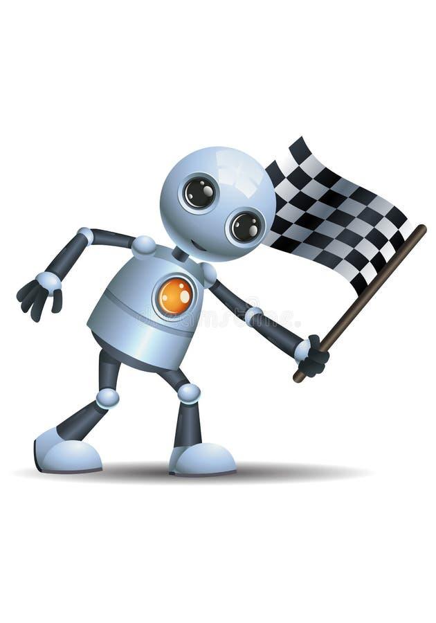 Меньший флаг отделки владением робота бесплатная иллюстрация