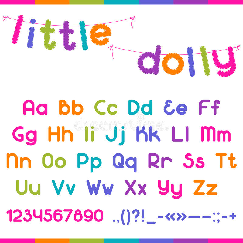 Меньший шрифт ребенк тележки смешной иллюстрация штока