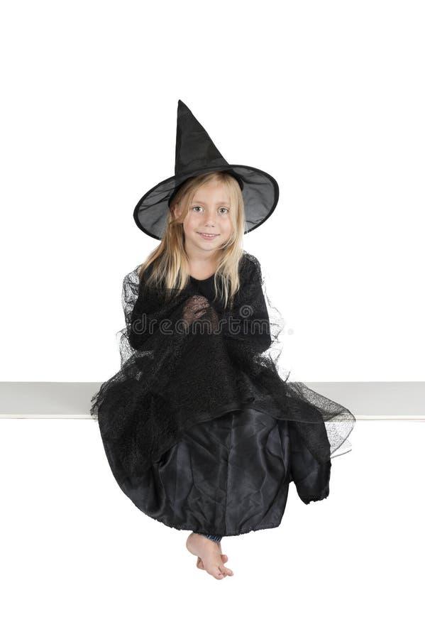 Меньшяя ведьма halloween стоковая фотография rf