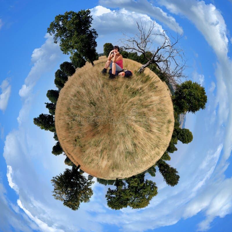 меньшяя планета панорамы стоковая фотография rf