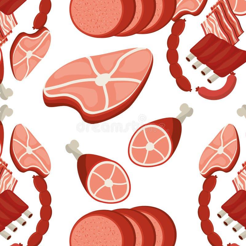 Меню мяса бесплатная иллюстрация
