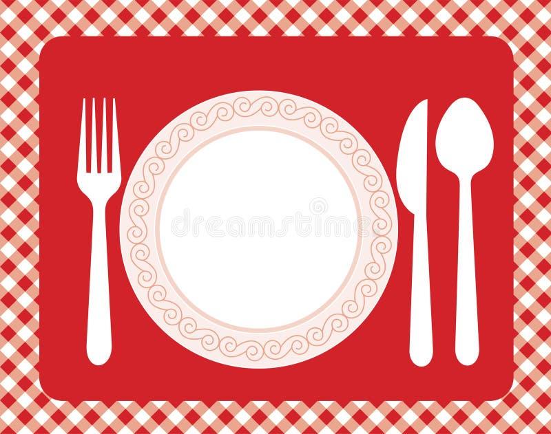 меню приглашения обеда иллюстрация штока