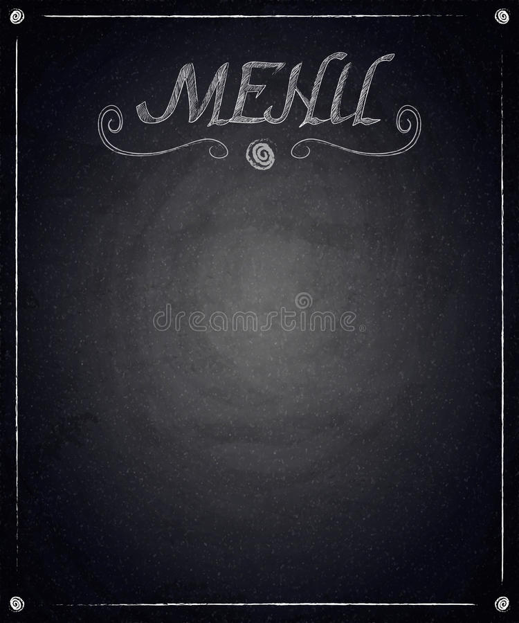 Меню ресторана на черной предпосылке доски бесплатная иллюстрация