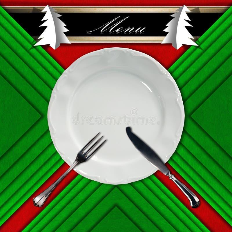 Меню ресторана рождества иллюстрация штока