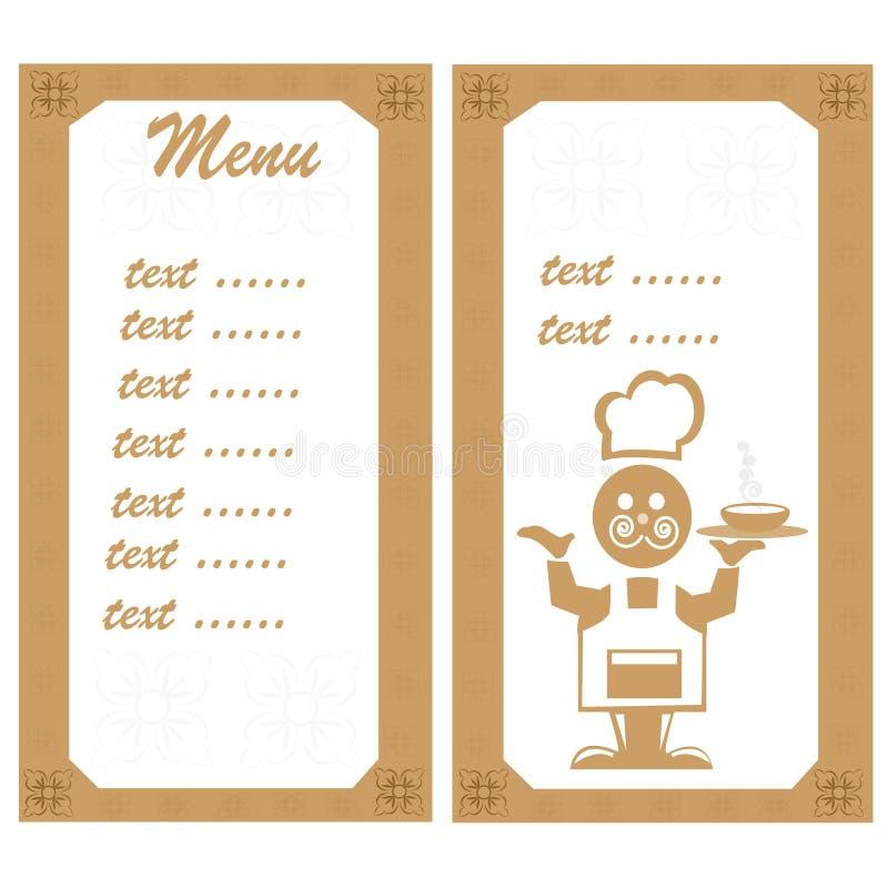 меню шеф-повара бесплатная иллюстрация