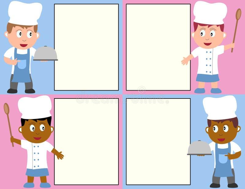 меню шеф-поваров бесплатная иллюстрация