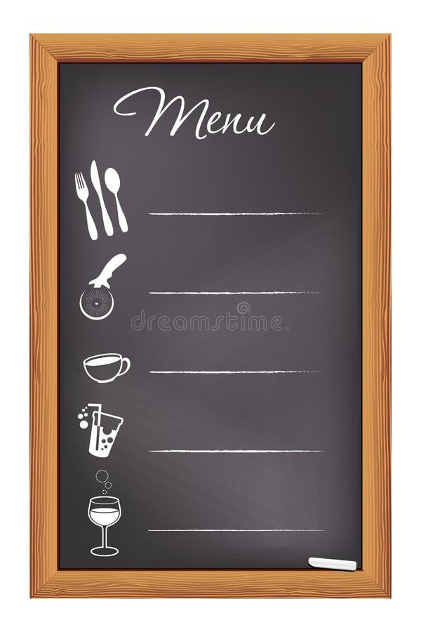 Меню Chalkboard ресторана иллюстрация вектора