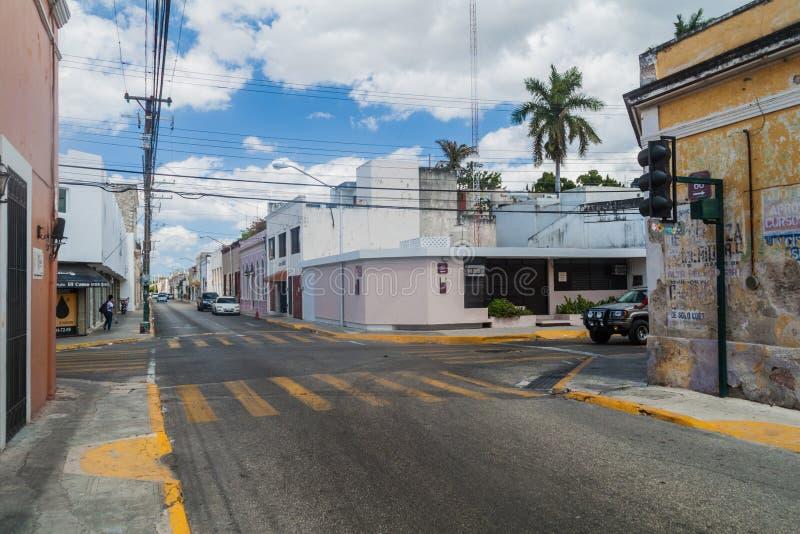 МЕРИДА, МЕКСИКА - 27-ОЕ ФЕВРАЛЯ 2016: Взгляд улиц в Мериде, Mexic стоковое изображение rf