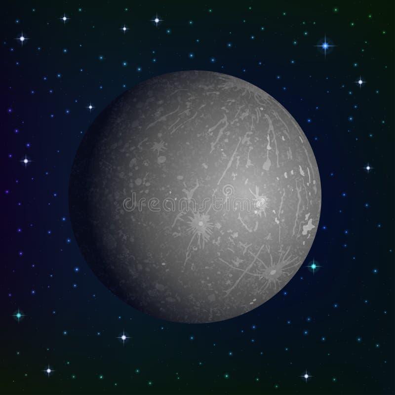 Меркурий планеты в космосе иллюстрация штока