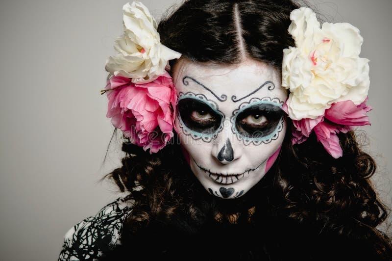 мертвая женщина halloween живущая стоковые фотографии rf