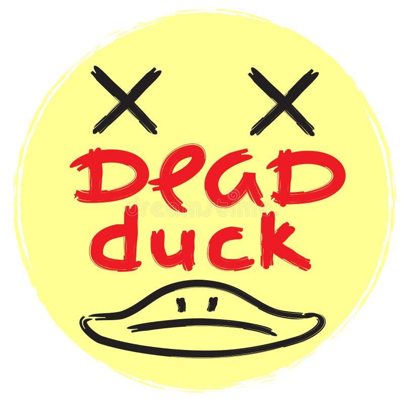 Мертвая утка - эмоциональная рукописная цитата, американский сленг, городской словарь иллюстрация штока