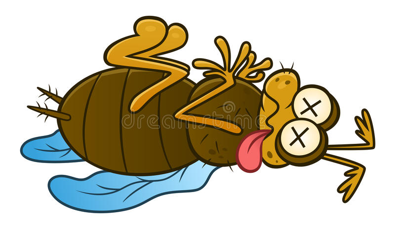 Мертвое насекомое бича иллюстрация штока