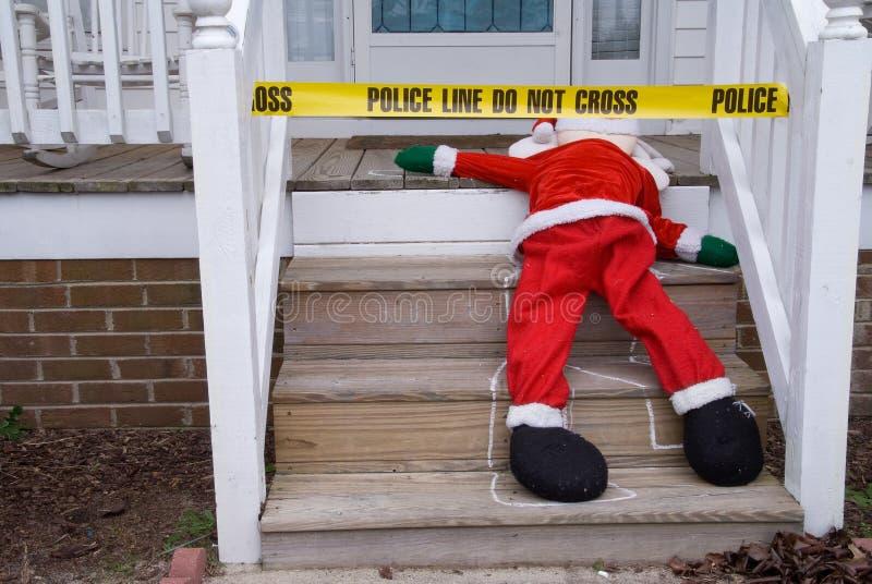 Мертвое Санта стоковое изображение rf