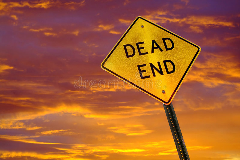 мертвый конец стоковые изображения rf