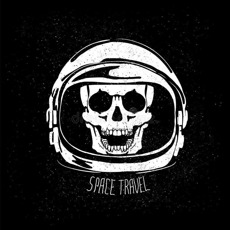 Мертвый шлем астронавта иллюстрация вектора