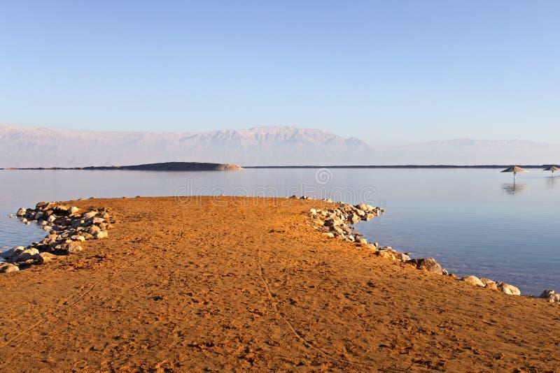 мертвый martian заход солнца моря стоковое фото rf