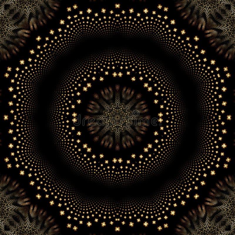мерцание звезды мандала иллюзиона оптически бесплатная иллюстрация